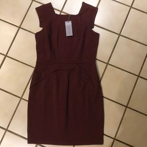 Sophisticated classy maroon angled dress